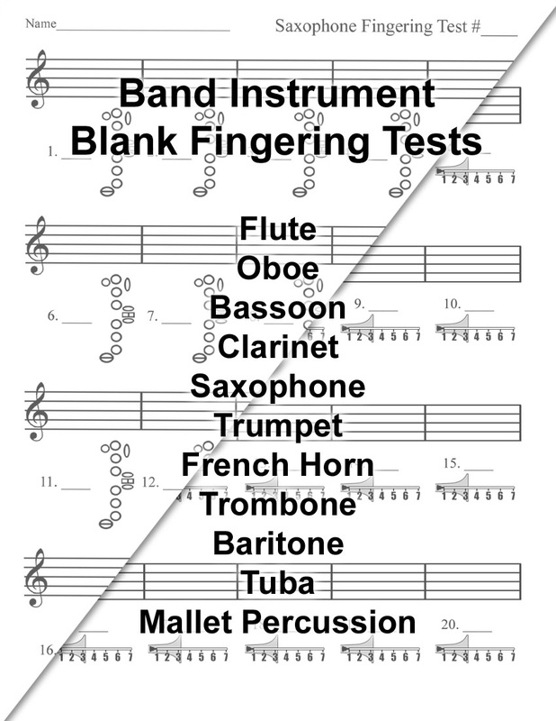 Free Band & Orchestra Worksheets - Rhythm, Notes, Note Names, And