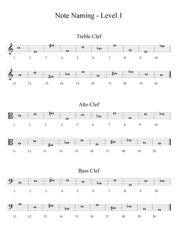 Worksheets Note Naming Worksheets free band orchestra worksheets rhythm notes note names and music naming worksheet