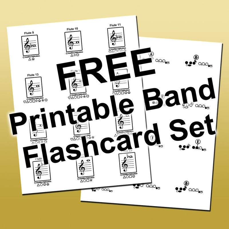 Free Flashcards - StepWise Publications: Materials for Band u0026 Orchestra