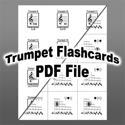 Trumpet Fingering Chart And Flashcards  Fingering Charts For Band