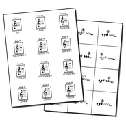 band flashcards fingering