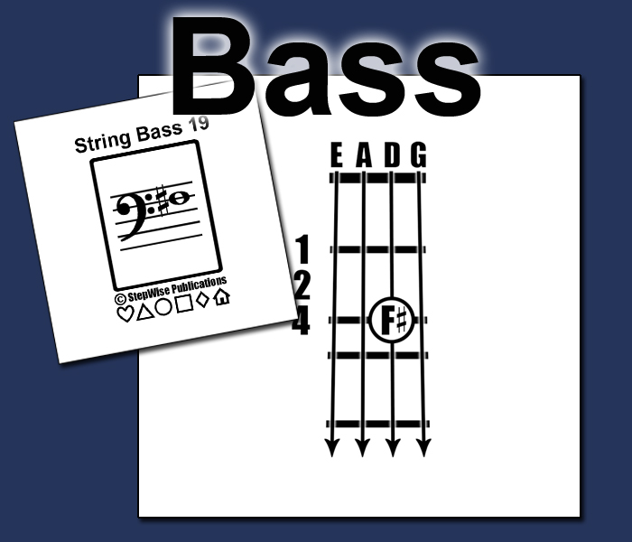 Bass Fingering Flashcards
