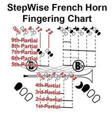 French Horn Fingering Chart and Flashcards - StepWise ...