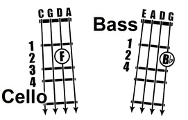 Cello Bass Fingering Chart