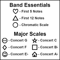 Band Flashcard Shapes