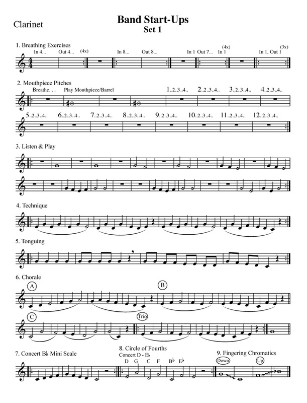 Free Warm-Up Exercises for Band & Orchestra - StepWise