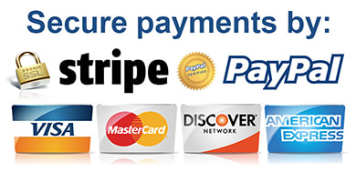 Secure payments by Stripe or PayPal